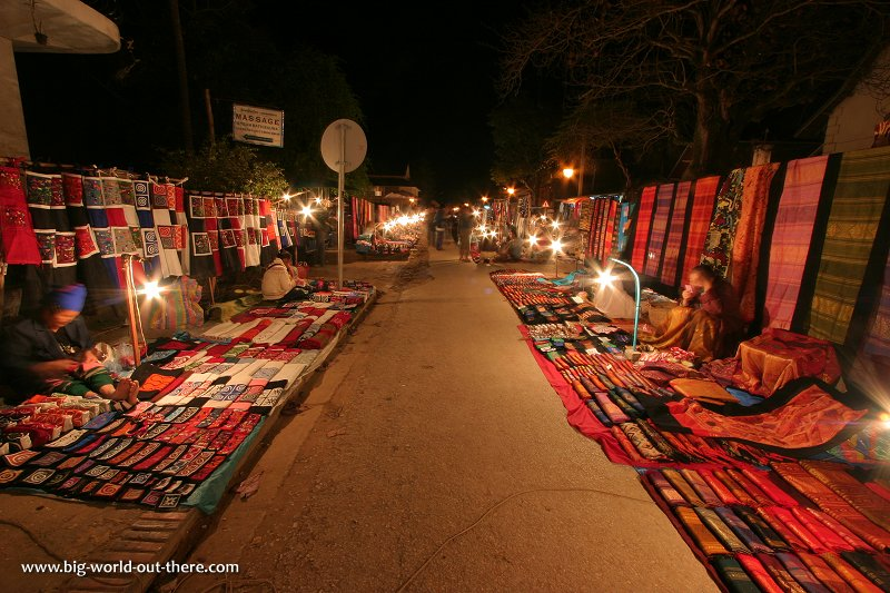 Luang Prabang night bazaar