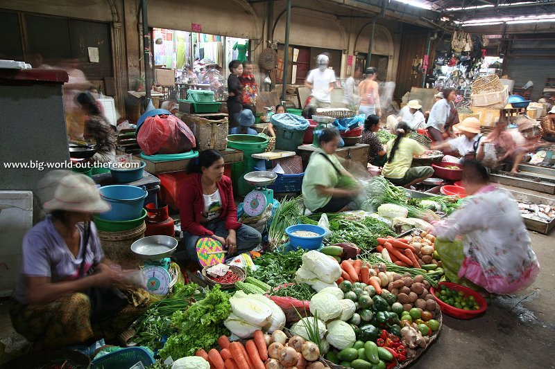 The market in Siem Reap