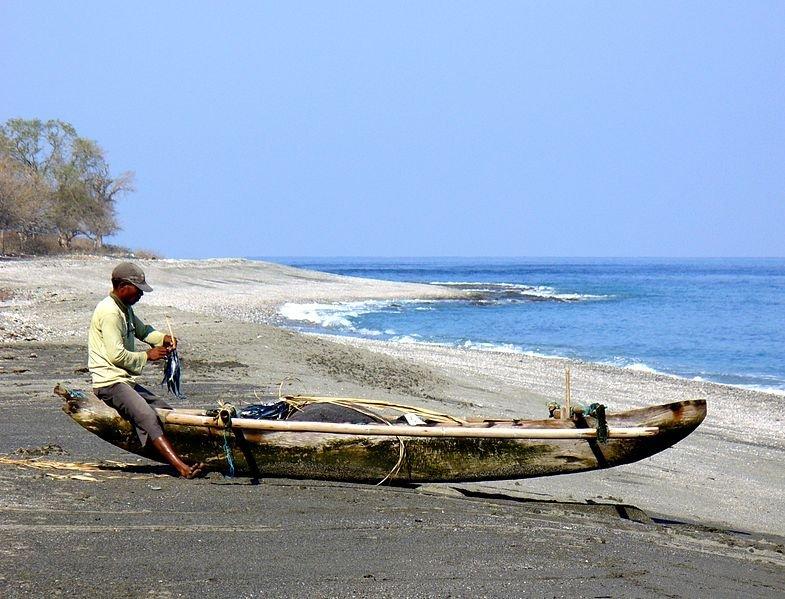 Fisherman in Maubara