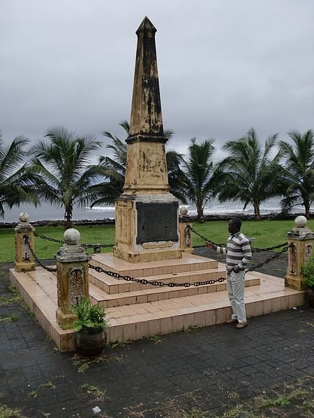 Monument in Luba, Equatorial Guinea
