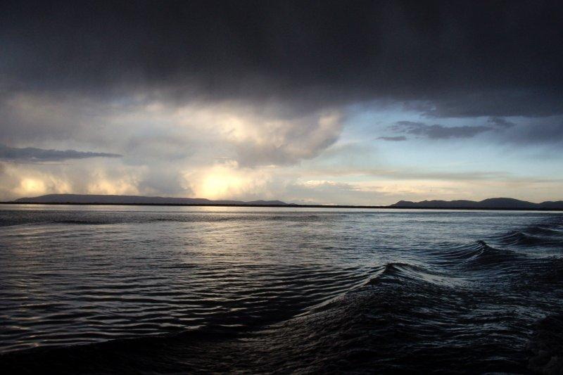 Moody weather at Lake Titicaca, Bolivia