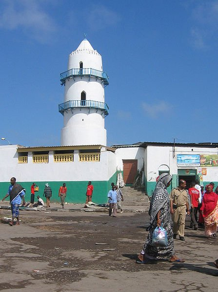 Mosque at market place in Djibouti City