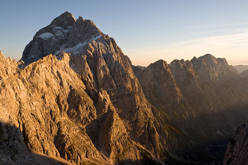North face of Mount Jalovec in the Julian Alps, Slovenia