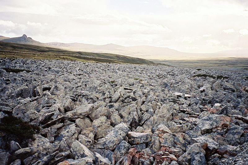 Stone run on Mount Kent, Falklands