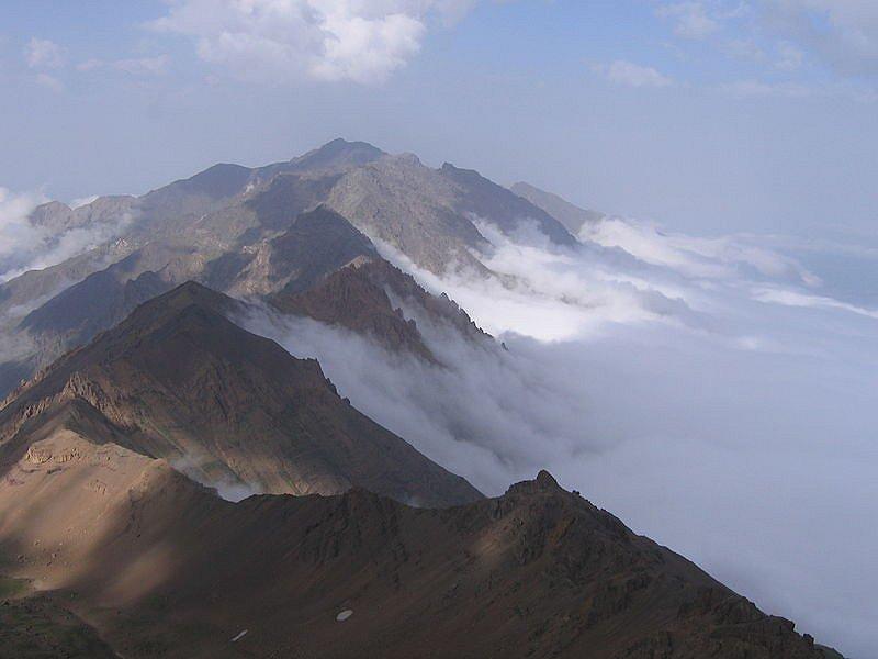 Mountain range near Alam-Kuh, Iran