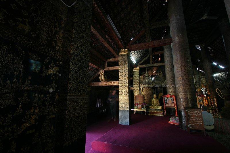 Ornate interior of Wat Xieng Thong, Luang Prabang