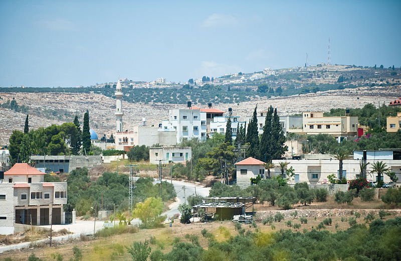 View of Palestine between Jenin and Nablus on the West Bank