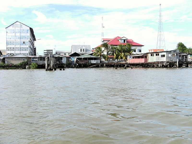 Paramaribo as seen from the Suriname River