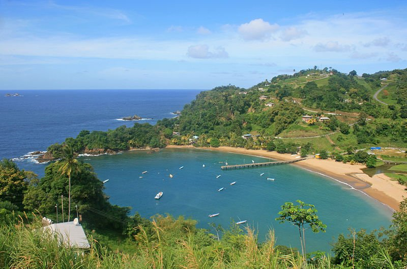 Parlatuvier Bay in Trinidad and Tobago
