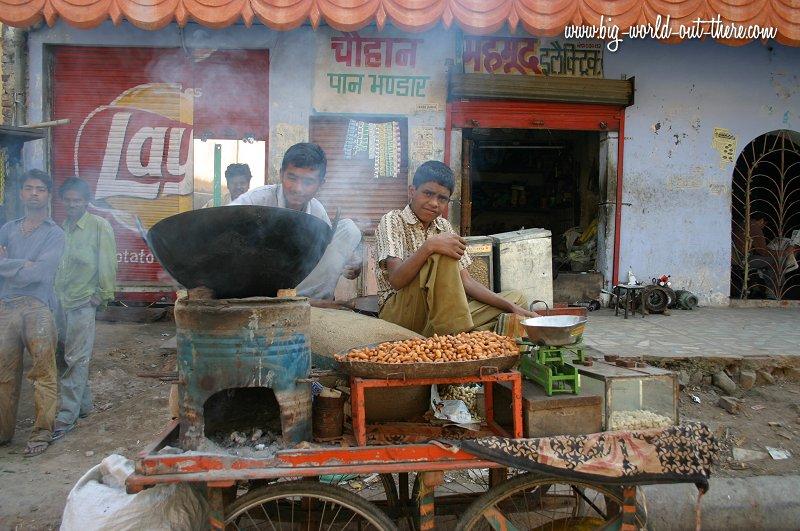 Peanut vendors in Jaipur, India