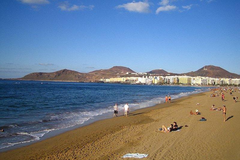 Playa de Las Canteras, Las Palmas de Gran Canaria, Spain