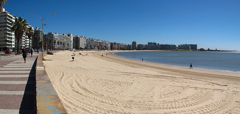 Playa Pocitos Pano, Montevideo, Uruguay