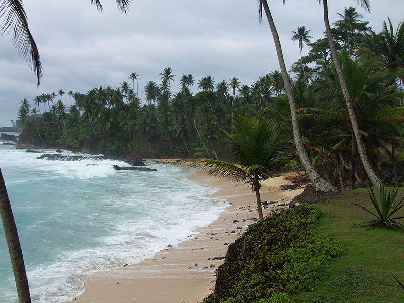Praia de Santo António in Ilhéu das Rolas