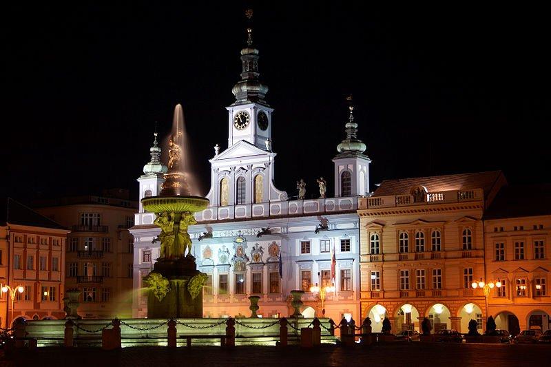 Přemysl Otakar II Square in České Budějovice, Czech Republic