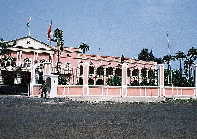 The presidential palace in São Tomé