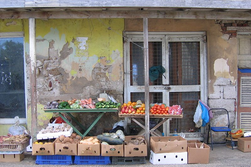 Produce stall in Barbados