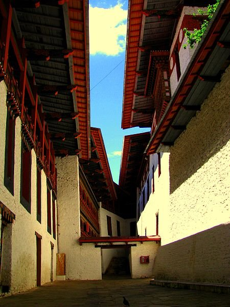 Lane at Punakha Dzong