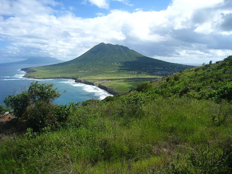 The dormant volcano Quill in Sint Eustatius