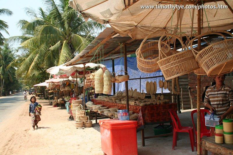 Rattanware stall, Siem Reap
