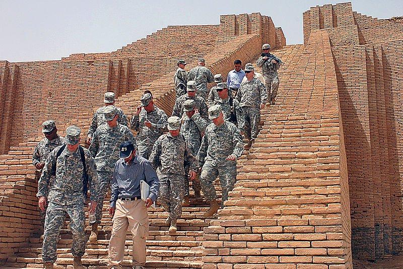 The reconstructed Great Ziggurat of Ur, Iraq