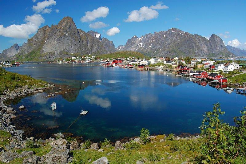 The village of Reine in Lofoten, Norway