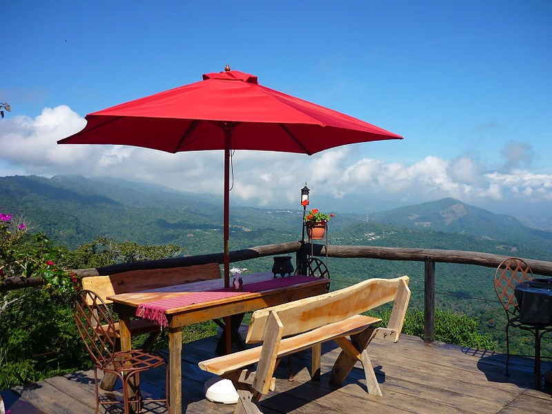 Restaurant with view at Comasagua, El Salvador