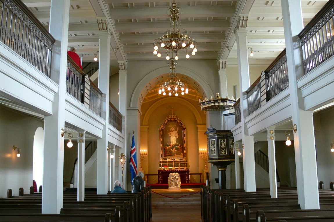 Inside Reykjavík Cathedral
