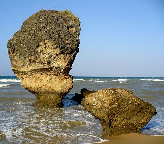 Rock formations at Osolata Beach, East Timor