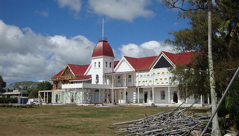 Extension work being done on the Nuku'alofa Royal Palace, Tonga