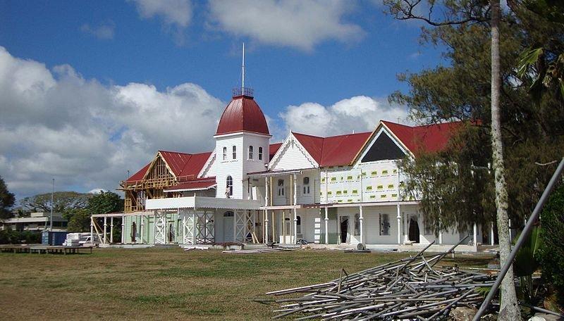 Extension work being done on the Nuku'alofa Royal Palace, Tonga