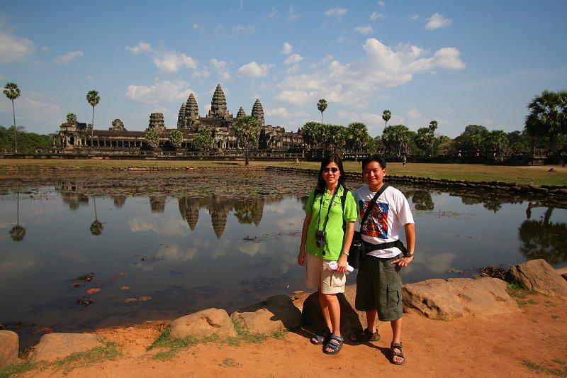 Tim and wife Chooi Yoke at Angkor Wat