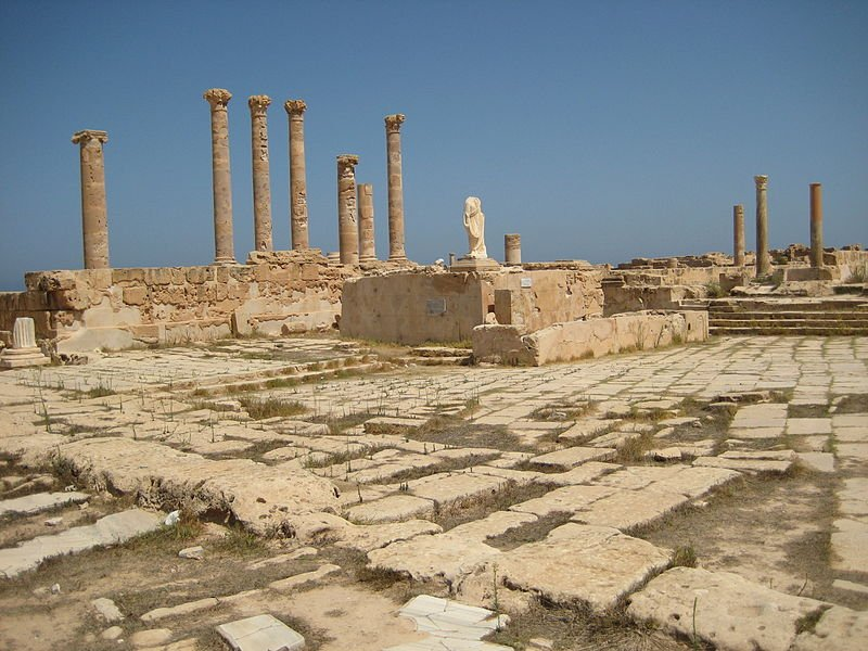 Ruins at the Temple of Antonine, Sabratha, Libya