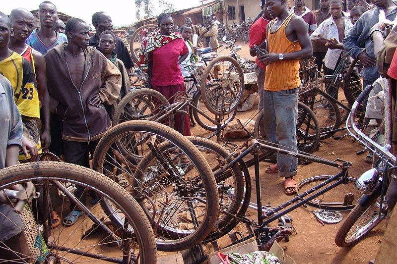 Ruyigi bicycle workshop, Burundi
