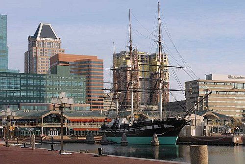USS Constellation at Baltimore's Inner Harbor