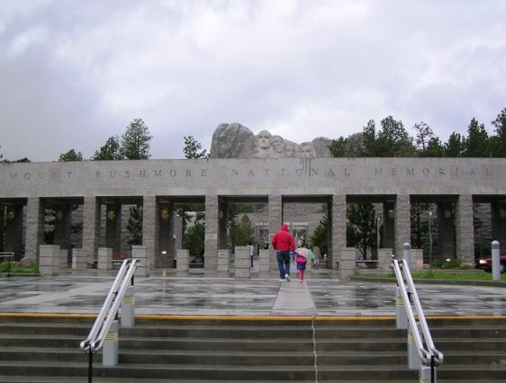 Entrance to Mount Rushmore National Memorial
