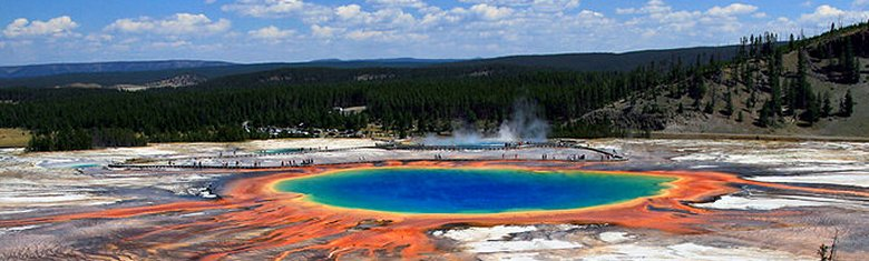Grand Prismatic Spring and Midway Geyser Basin, Yellowstone National Park