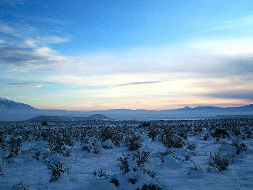 Great Basin, Utah, in winter