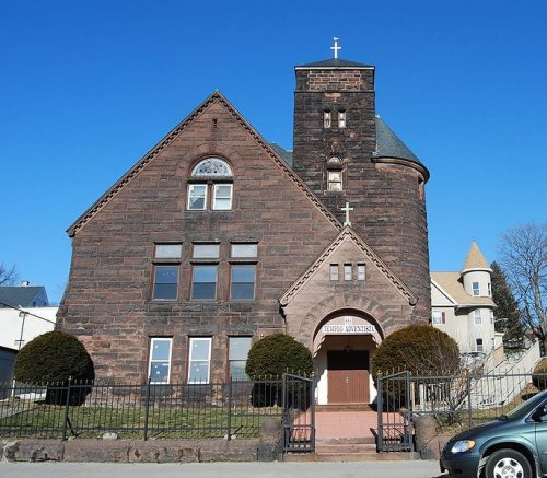Historic church building at 888 Main Street, Worcester, Massachusetts