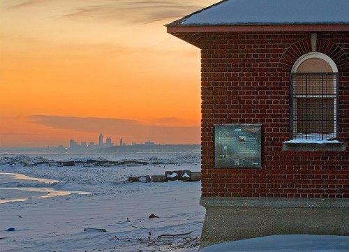 Huntington Beach in winter, Ohio