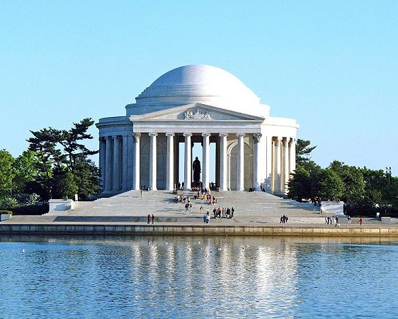 Jefferson Memorial, across the Potomac River Tidal Basin