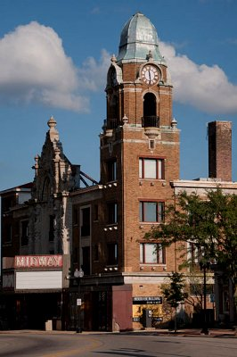 Midway Theater and Spanish Tower, Rockford, Illinois