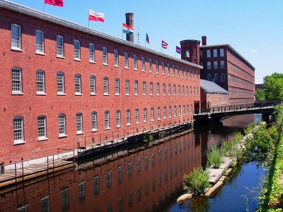 Old Mill Building in Lowell now converted to a museum