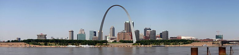 Missouri, Panorama of St Louis, Missouri