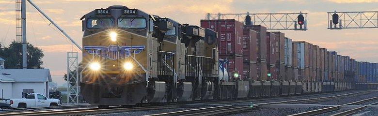 Nebraska, Freight train in Hershey, Nebraska