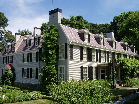 The Old House, Quincy, where four generations of the Adams family once lived
