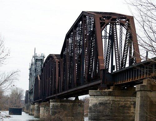 Railroad Bridge at Fort Smith, Arkansas