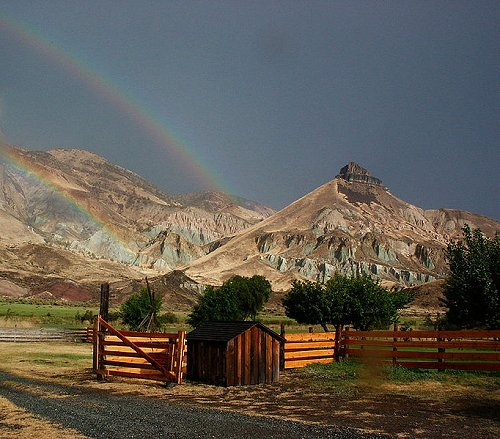 Sheep Rock at John Day Fossil Beds National Monument, Oregon