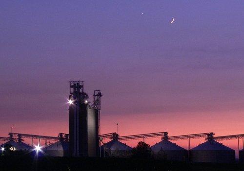 Sunset at Champaign, Illinois