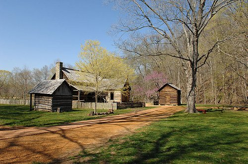 The Homeplace log structure, Land Between the Lakes National Recreation Area, Tennessee