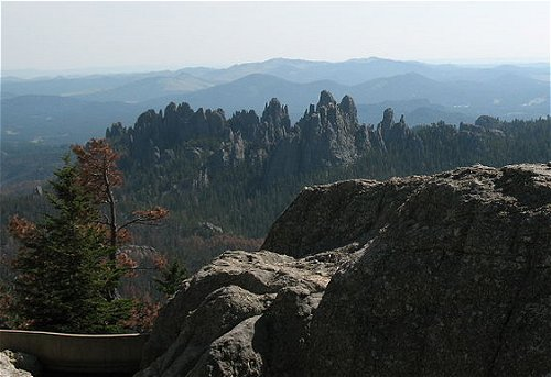 The Needles, as seen from Harney Peak, South Dakota